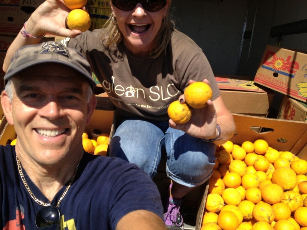 Chuck and Kelly, a couple of GleanSLO's all-stars! They're ready to tackle citrus season next month!